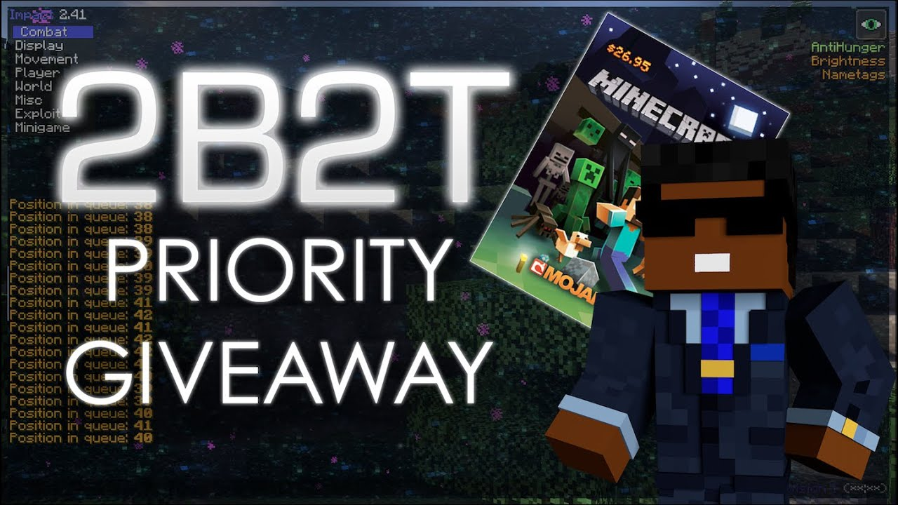 Minecraft: 2b2t | FREE PRIORITY QUEUE GIVEAWAY!!