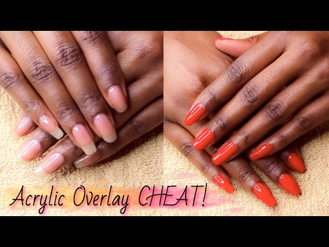 Acrylic Overlay On Natural Nail CHEAT! Vitagel Strengthener For ...