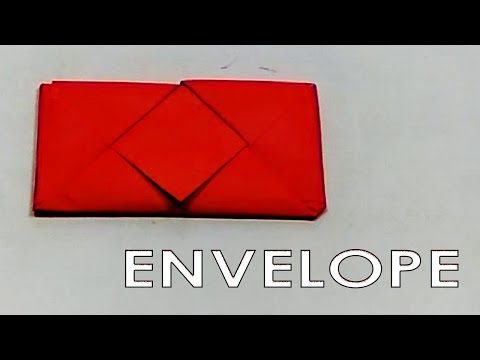 DIY Easy Origami Envelope For Secret Message Step by Step Paper Fold Tutorial - Paper Crafts Ideas