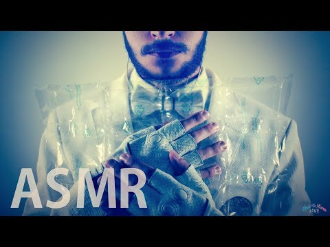 [ASMR Binaural] Hugging Crinkly Plastic Air Bags - NO TALKING