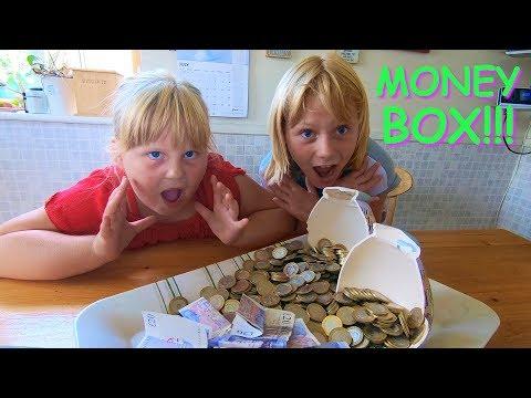 Smashing open money box!!!