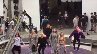 DWTS! FIFTH HARMONY CHOREOGRAPHY REHEARSAL lead by WITNEY CARSON, PRO-DANCERS REHEARSAL