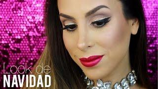 ☆ Look De Navidad: Delineado Doble Con Glitter ☆ Holiday Makeup Tutorial