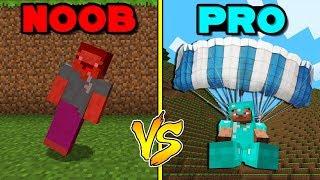 - Minecraft Battle NOOB vs PRO LANDING WITH A PARACHUTE in Minecraft