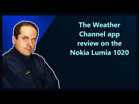 The Weather Channel app review on the Nokia Lumia 1020