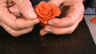 Easy Marzipan Rose