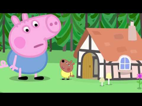 Peppa Pig  Grandpa Pig drifts away  Growing strawberries  Giant George