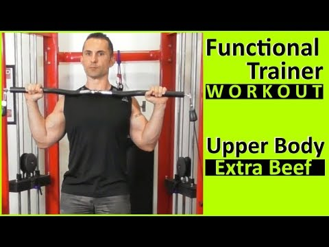 Compound Upper Body Workout For Functional Trainer Machine
