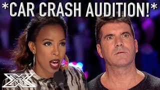"""You're Too Old"" Car Crash Audition Has Judges In A BAD MOOD! 