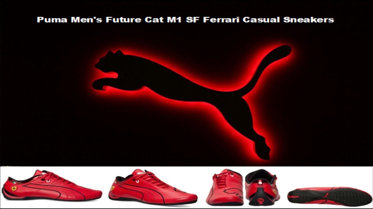 57d0ee4650b487 Puma Men s Future Cat M1 SF Ferrari Casual Sneakers review - YouTube