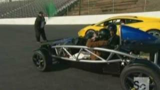 X1 Electric car vs. a Lambo and a NASCAR race car.