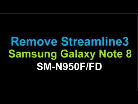 Remove Streamline3 Samsung Galaxy Note 8 N950F/FD by Unlock Phone