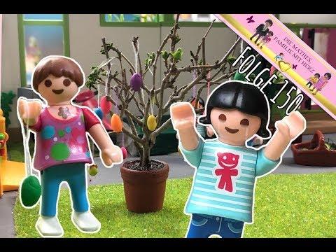 Streit beim Osterstrauch schmücken - Playmobil Film deutsch von Familie Mathes mit Plymobilfiguren