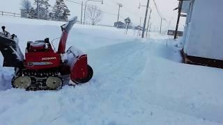 本日の積雪 除雪 投雪 ホンダ