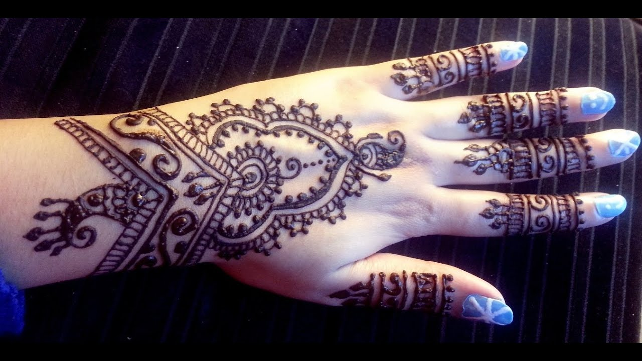 Easy Mehndi Tutorial : Pretty indian henna easy stylish mehendi design tutorial best