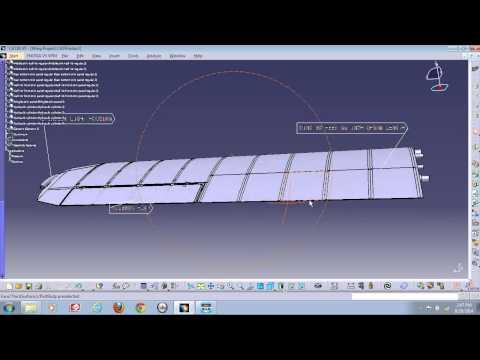 EVCC ATA CAD CATIA V5 Wing Project Demo by Sam Georgiu