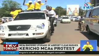 Kericho MCAs lead protests against airport