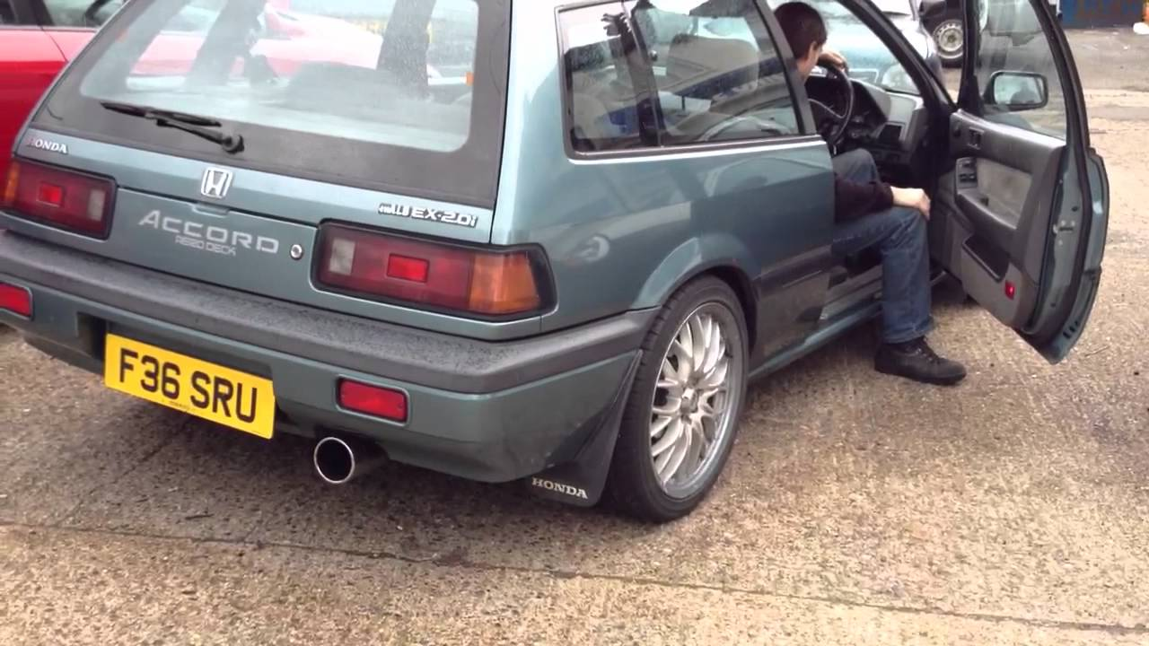 1988 Honda Accord Aerodeck Exhaust - YouTube