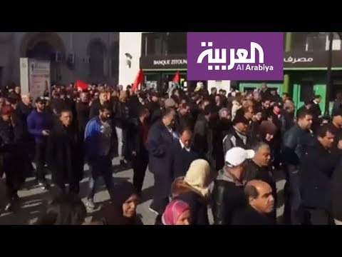 إضراب يشل تونس شعاره الشعب يريد إسقاط الحكومة  - 20:54-2019 / 1 / 17