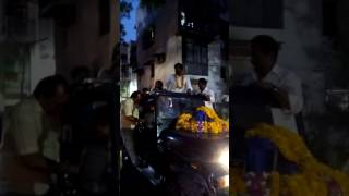 Neetu and Manish Chaudhary in K block Sarita Vihar after their win in ward 101 MCD elections Video