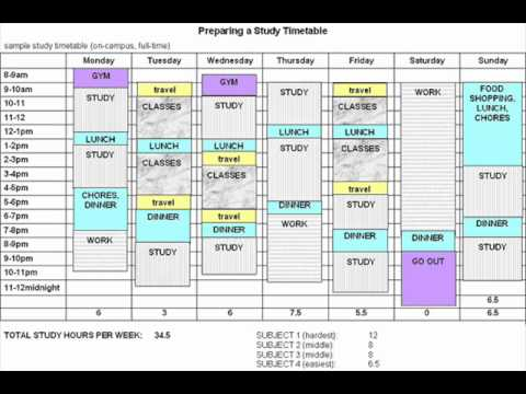 Preparing A Timetable - YouTube