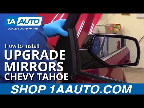 How to Install Upgrade Mirrors 15-19 Chevy Tahoe LT - YouTube