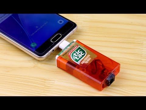 How To Make Emergency Power Bank At Home - Tic Tac Portable Charger