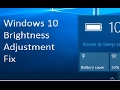 Windows 10 Brightness Adjustment Fix for Laptops