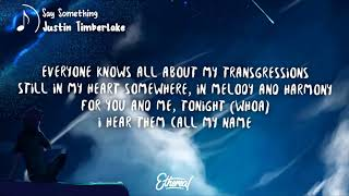 Justin Timberlake - Say Something Lyrics ft. Chris Stapleton