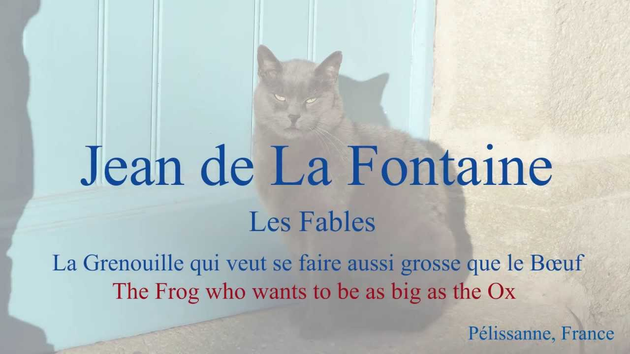 French fable la grenouille et le b uf by jean de la - Image la grenouille et le boeuf ...