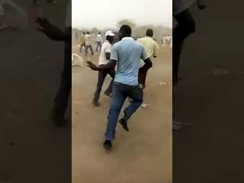 Protesters Chasing APC Senator, Reps Members In Katsina