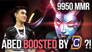 Abed 9950 MMR World Record - Boosted by Team DC? 😱😱 [Dota 2]