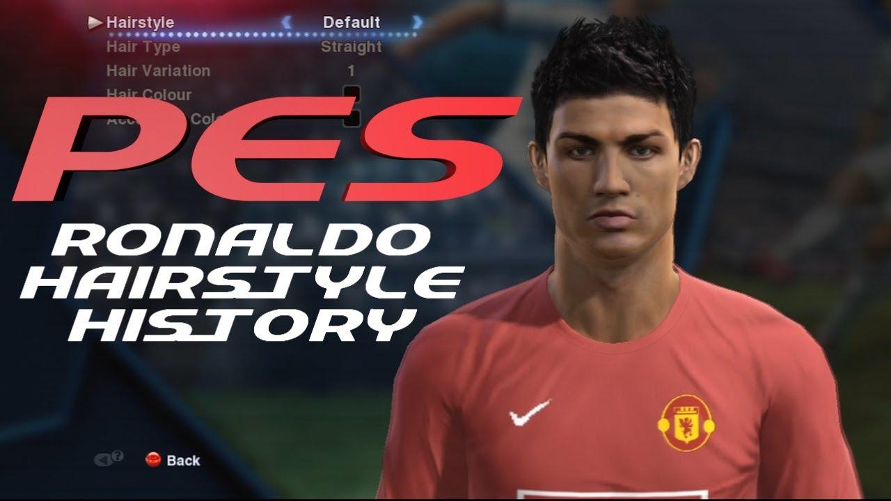Pes History Of Cristiano Ronaldo Hairstyles 2005 2013 Youtube
