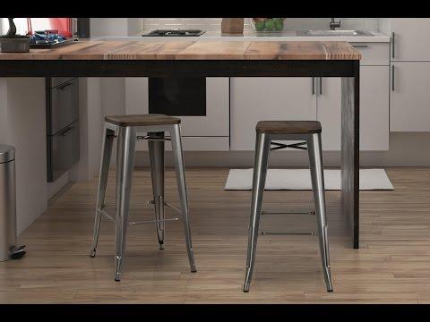 metal bar stools counter height