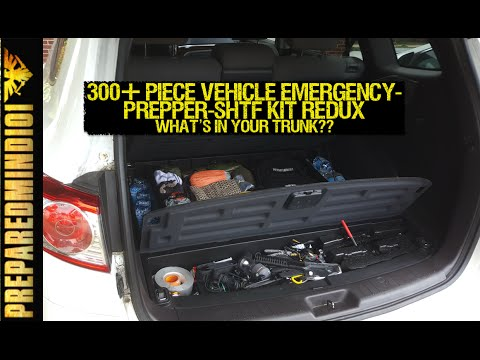300+ Piece Vehicle Emergency/Prepper/SHTF Kit REDUX - Preparedmind101