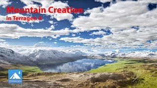 Creation of a Realistic Mountain Landscape in Terragen 4 (JUST 3 MINUTES)