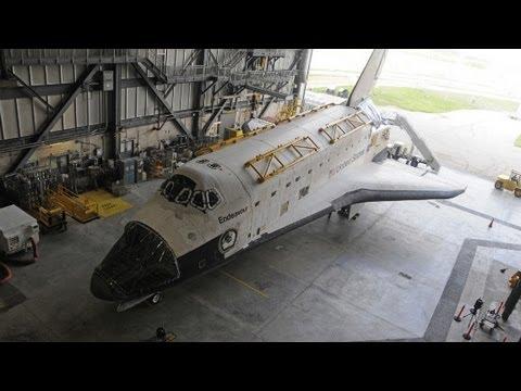 A Rare Glimpse Inside a Space Shuttle Endeavor