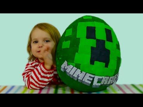 Майнкрафт яйцо с сюрпризом Minecraft обзор игрушек