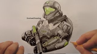Buck - Speed Drawing - How To Draw - Halo 5: Guardians