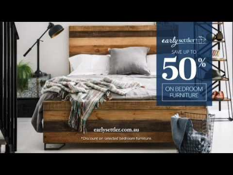 Early Settler Ad YouTube - Settler bedroom furniture
