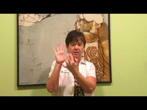 Hand reflexology for your adrenal glands good for allergies and inflammation