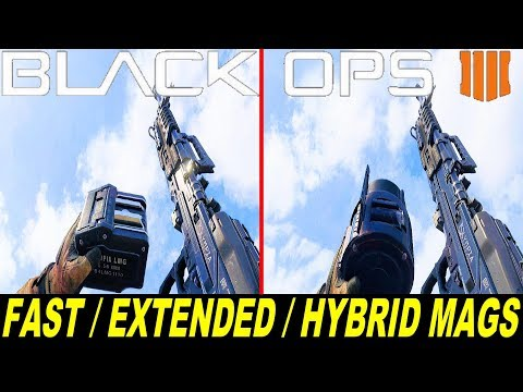 Call Of Duty Black Ops 4 - Fast / Extended / Hybrid Mags - Reload Animations Comparison