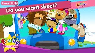 (B)21_ ders ayakkabıları ister misin? İçin - karikatür Öykü İngilizce Eğitimi - Kolay konuşma çocuk