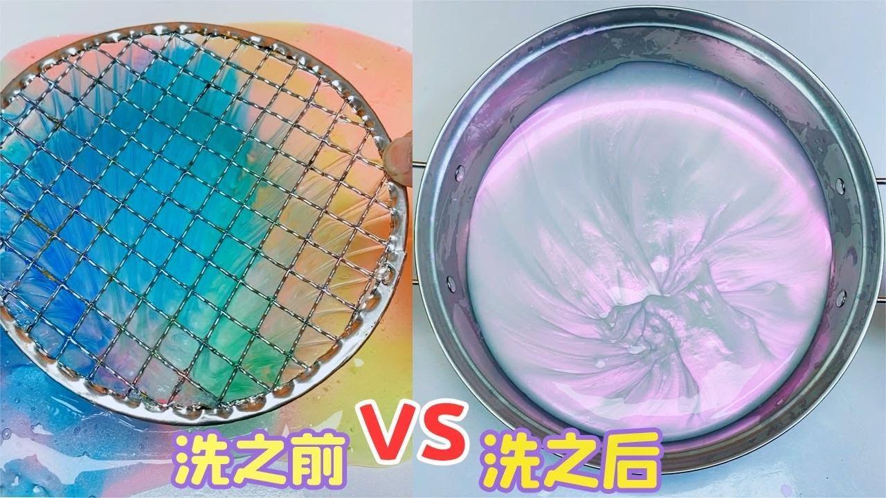 用1瓶白色珠光粉,洗24盒垃圾桶起泡膠,最後竟能變成幻彩紫!
