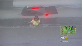 Lake County Flood Waters Force Drivers To Abandon Cars