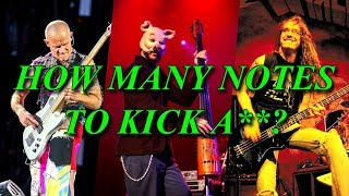 12 cool bass riffs from 1 to 12 notes