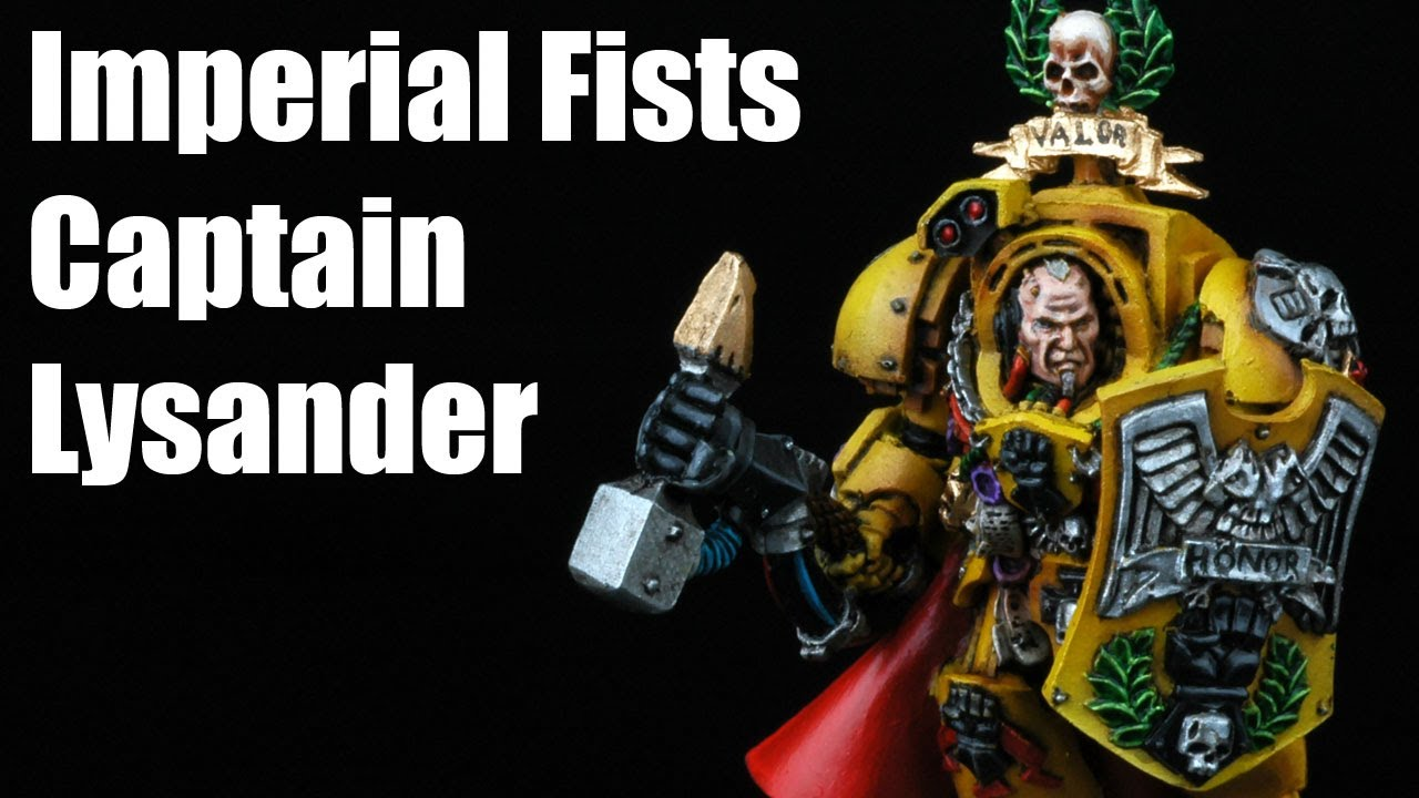 How to paint imperial fists captain lysander space marines warhammer 40k airbrush tutorial 1 2 - Imperial fists 40k ...