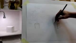 Рисование для начинающих.Урок 1.Экспресс-курс.Перспектива.Рисунок гипсовой модели куба.