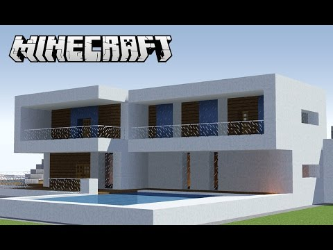 Tutoriais minecraft mobiliando sua casa suburbana doovi for Casa moderna y pequena en minecraft