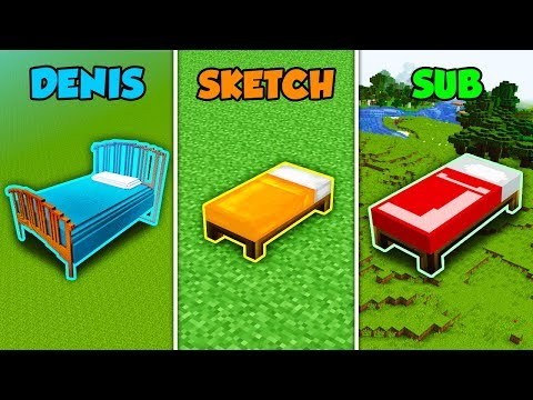 DENIS vs SKETCH vs SUB - BED in Minecraft (The Pals)